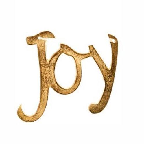 "Joy Ornament 7"", Gold"