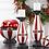 Thumbnail: Glittered Santa Belt Candleholders Set of 2