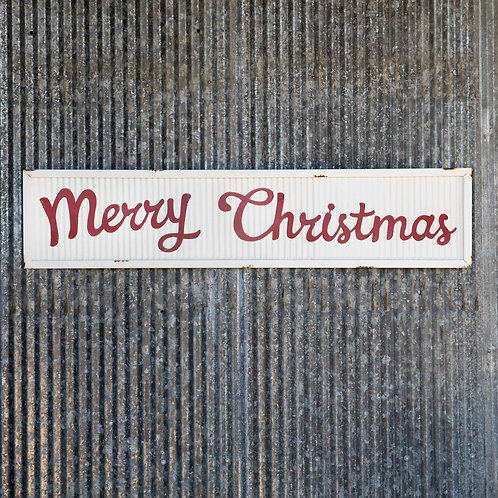 Corrugated Metal Merry Christmas Sign 44.5""