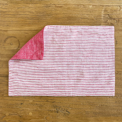 Reversible Linen Placemat, Red S/6