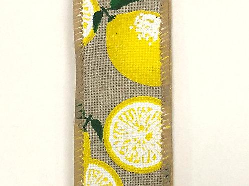 "Natural Linen/Lemon 1.5""x10YDS"