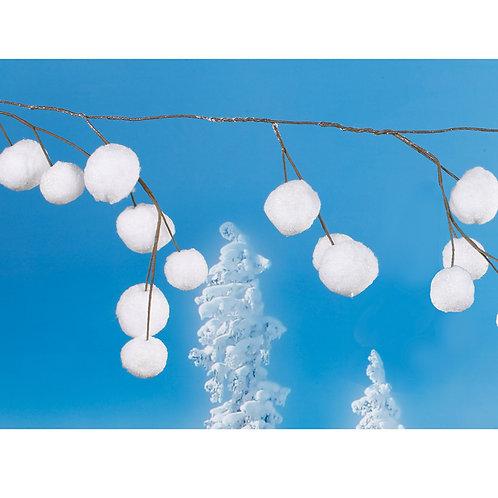 """Snow Ball Garland 72"""""""