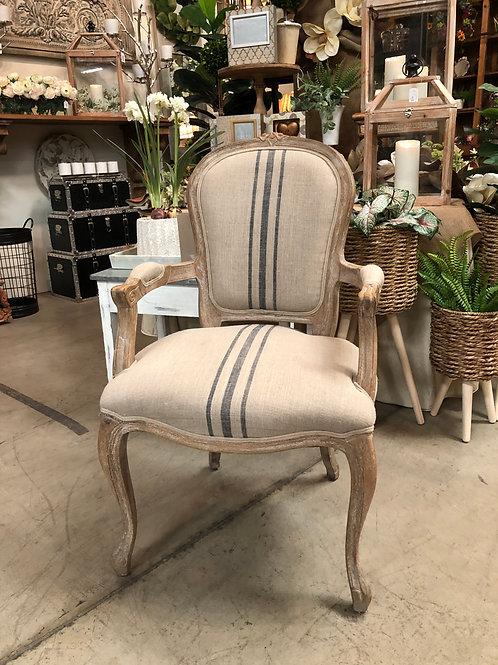 French Stripe Arm Chair