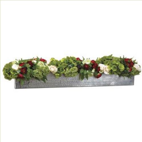 """Rose/Ranunculus /Sedum in Planter 9"""""""