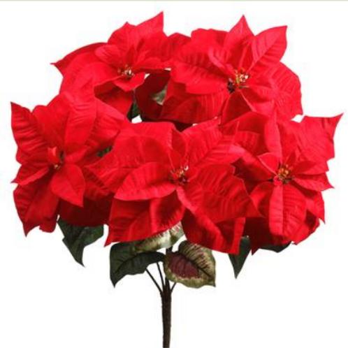 """Majestic Velvet Poinsettia Bush 23.5"""""""