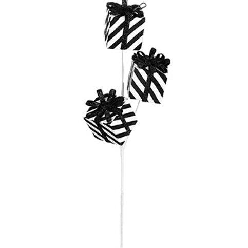 """Black/White Stripe Present Pick 26"""""""