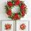 "Thumbnail: Mixed Rose and Pine Wreath 26"""