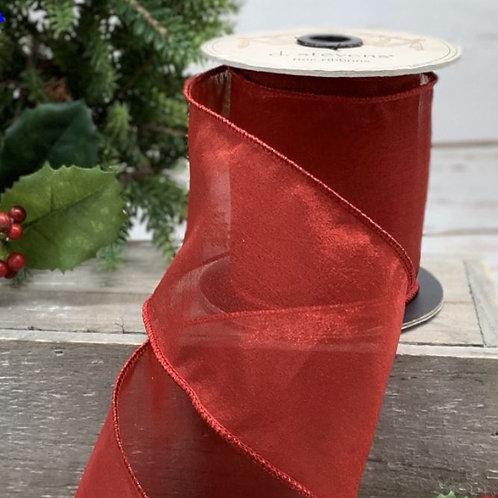 """Tissue Silk Red 4""""x10yd"""