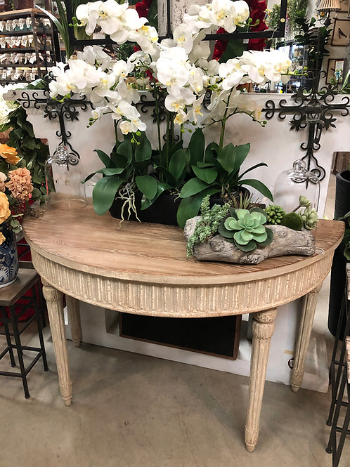 French Style Half Round Table