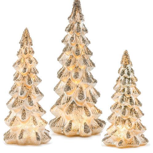 Iced White Tree LED Set/3