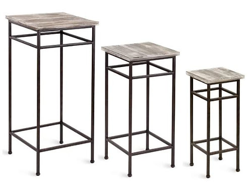 Square Top Plant Stand Small 21""