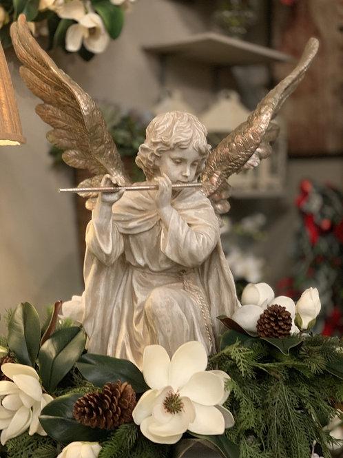 """White Resin Angel 33"""""""