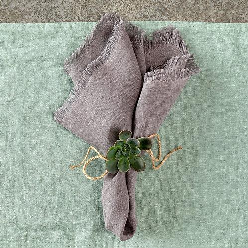 Soft Linen Napkin, Taupe S/6