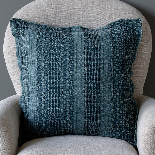 Heathered Waffle Weave Pillow, Teal