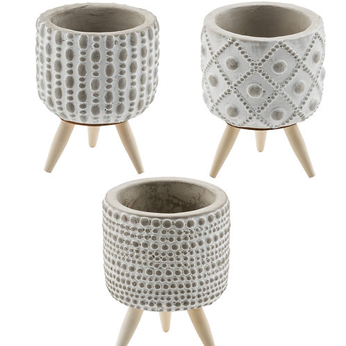 Embossed Planter with Feet
