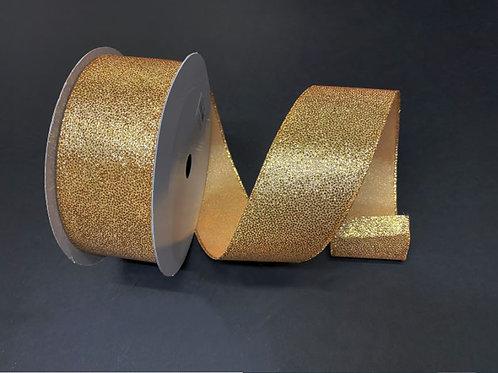 "GOLD GLITTERED SATIN 2.5""X50Y $22.90"
