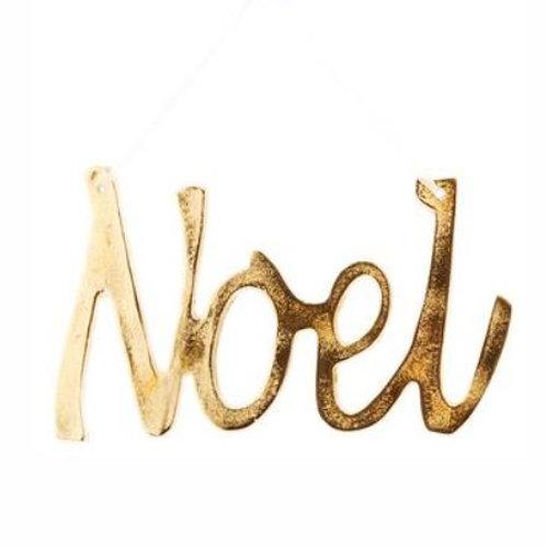 "Noel Ornament 10"", Gold"