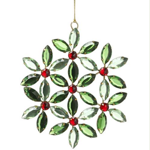 "Rhinestone Medallion Ornament 5.25"""