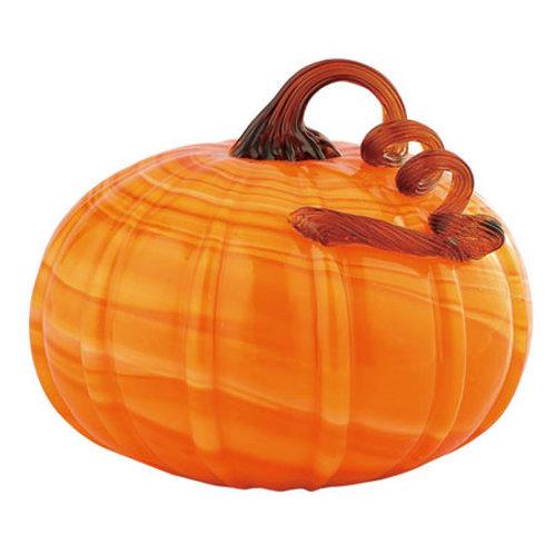 "Glass Pumpkin Orange 6.5""H"