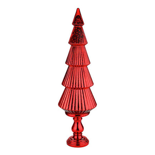 "Glass Christmas Tree Red 40""H x 12""D"