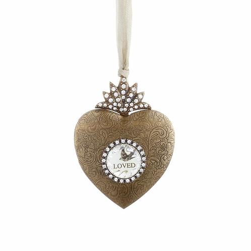 "Heart Locket Photo Frame Ornament 3"""