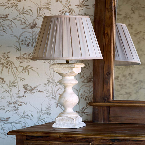 Antique White Balustrade Lamp 26""