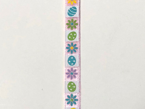 "Easter Mosaic, Pink 3/8""x10YDS"