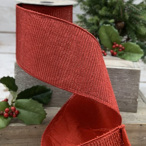 """Pleated Lame Red 4""""x10yd"""