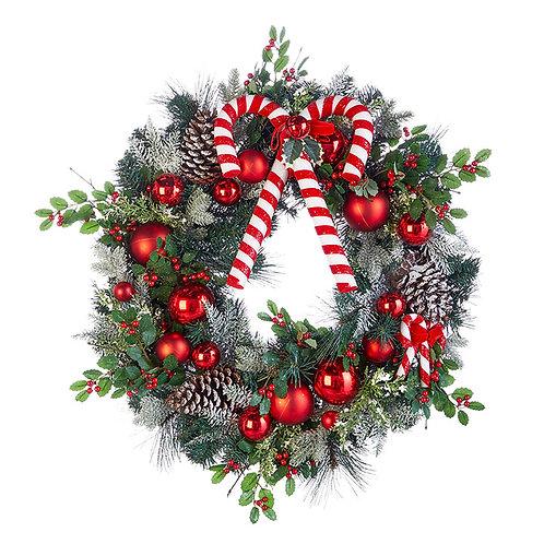 "Candy Cane Wreath 26"""