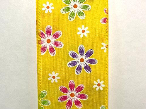 """Spring Daises, Daffodil 2.5""""x50YDS"""