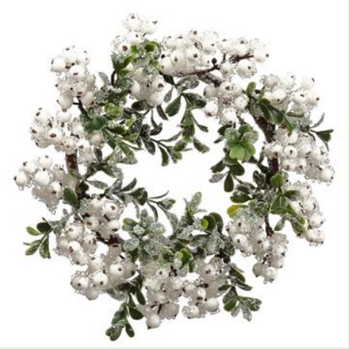 "Iced Berry/Boxwood Wreath 10"""