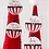 Thumbnail: Striped Wooden Message Ornament Red-White