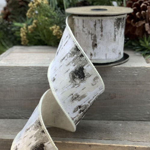 "Faux Bois Birch Bark Grey-White 2.5""x10yd"