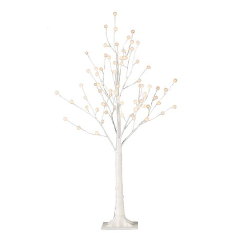 Glittered White Lighted Tree 3.5'
