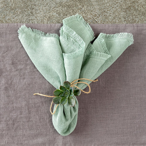 Soft Linen Napkin, Sage Green S/6