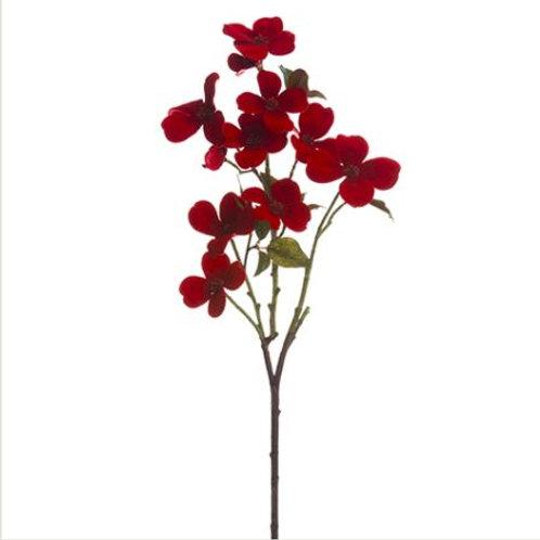 """Velvet Phalaenopsis Orchid Spray 34"""", Red"""