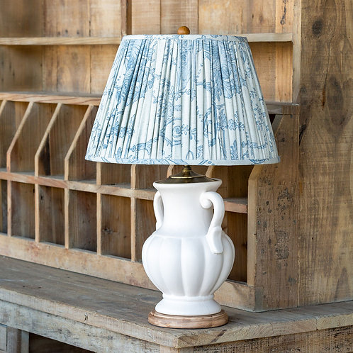 Ceramic Table Lamp With French Quarter Blue Shade