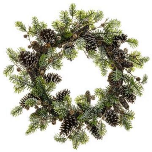 "Pine Cone/Norway Spruce Wreath 28"""