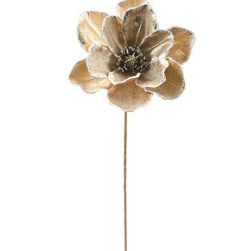"""Gold Shimmer Magnolia Stem 21"""""""