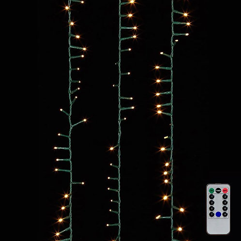 Snake Garland Green Wire Lights 36.5'