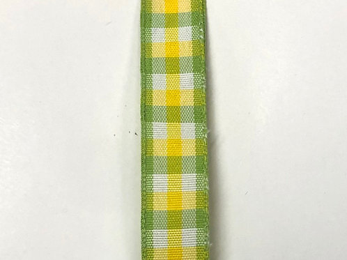 """Classical Chex, Yellow Lime 5/8""""x10YDS"""