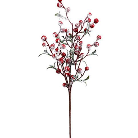 "Snow Berry Leaf Pick 16"""