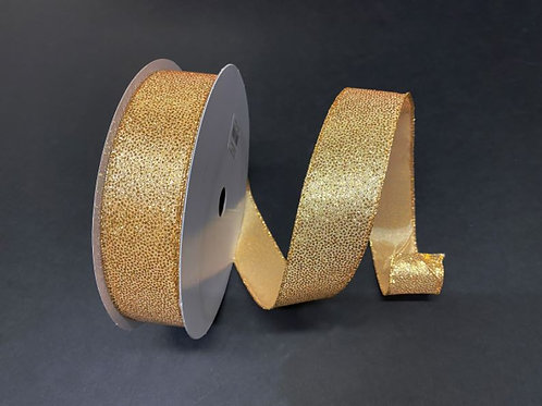 "GLITTERED SATIN GOLD 1.5""X50Y $16.90"