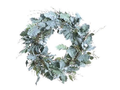 """Dusty Miller Wreath 27"""""""