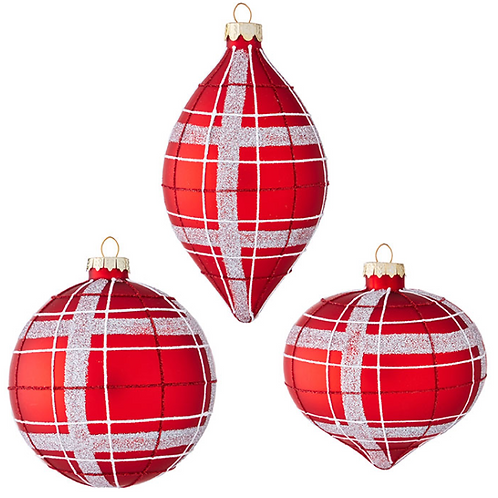 """Red and Silver Ornament 4"""""""