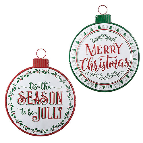 """Holiday Message Ornament Sign 19.75"""""""