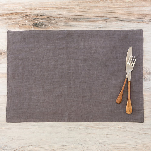 Soft Linen Placemat, Taupe S/6