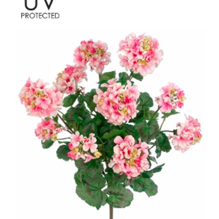 "UVPRO Geranium Bush X5 24"" PK/WH"