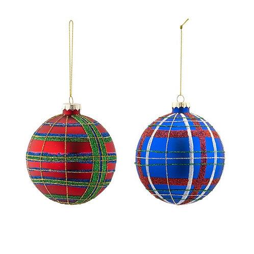 """Plaid Ornament 4"""""""