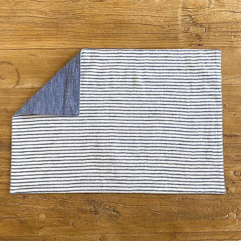Reversible Linen Placemat, Blue S/6
